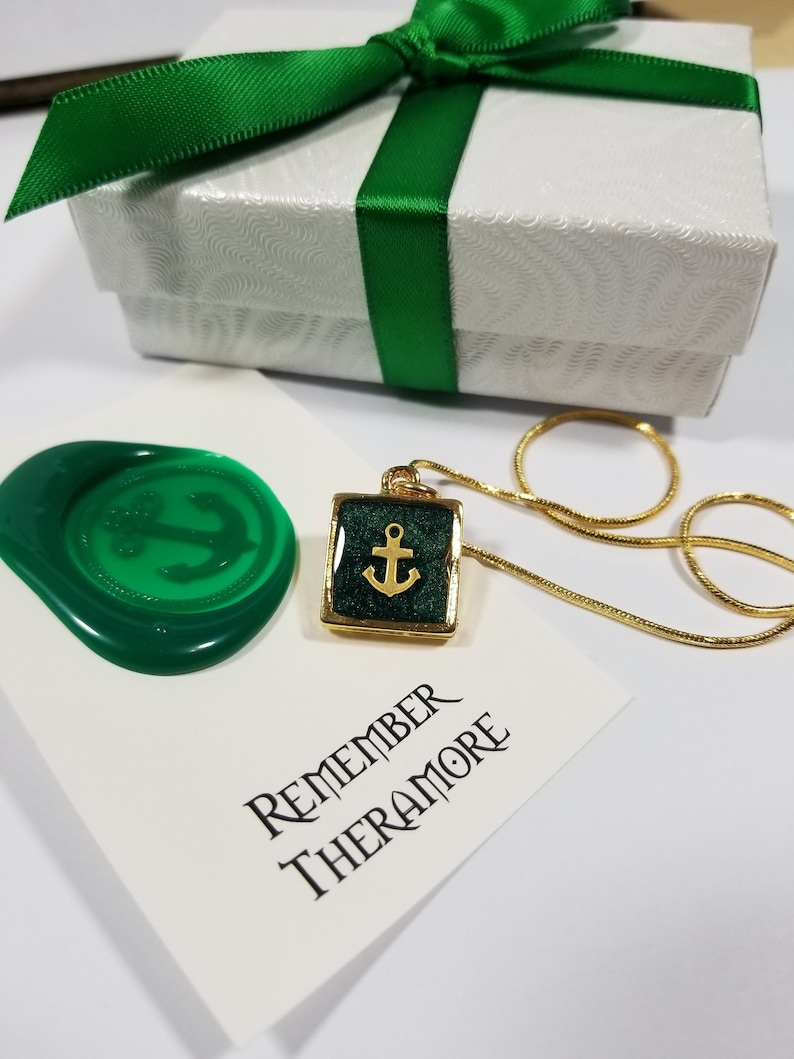 Remember Theramore Necklace World of Warcraft Inspired Deep Sea Emerald Green