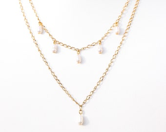 The Kelly | Dainty Freshwater Pearl Necklace Set