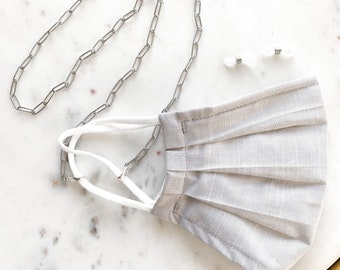 Silver Paperclip Link Mask & Glasses Chain