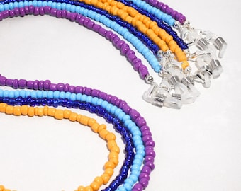 Solid Color Beaded Mask & Glasses Chains