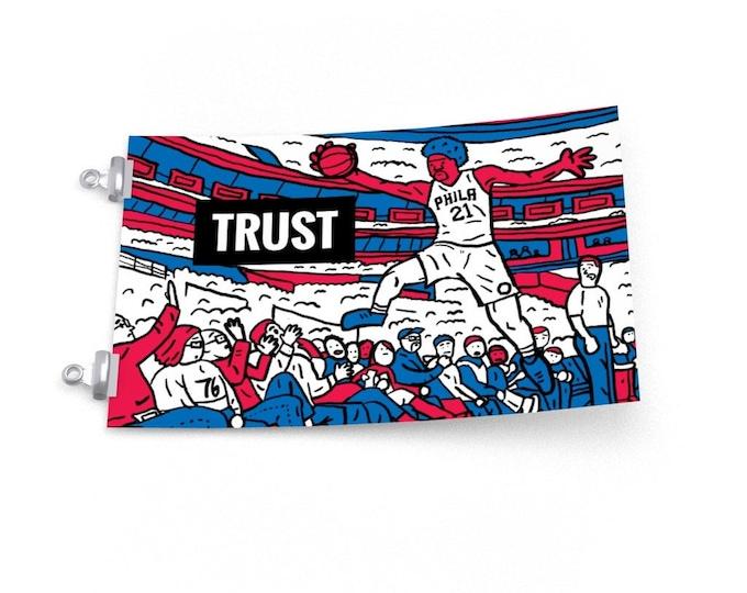 Trust the Process   Joel Embiid 76ers Philadelphia Basketball Poster