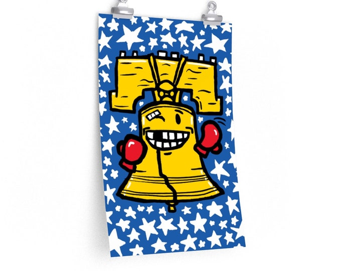 Fightin' Liberty Bell   Philadelphia Rocky Inspired Poster
