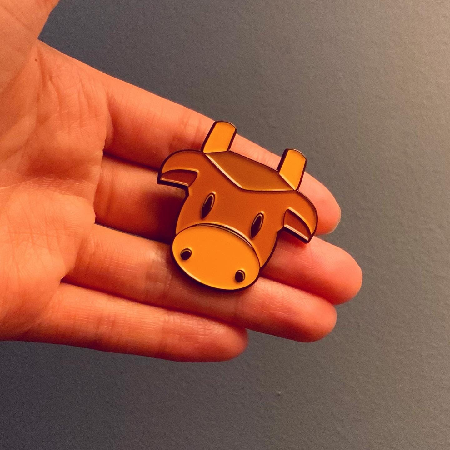Stardew Valley Inspired Brown Cow Soft Enamel Pin   Etsy