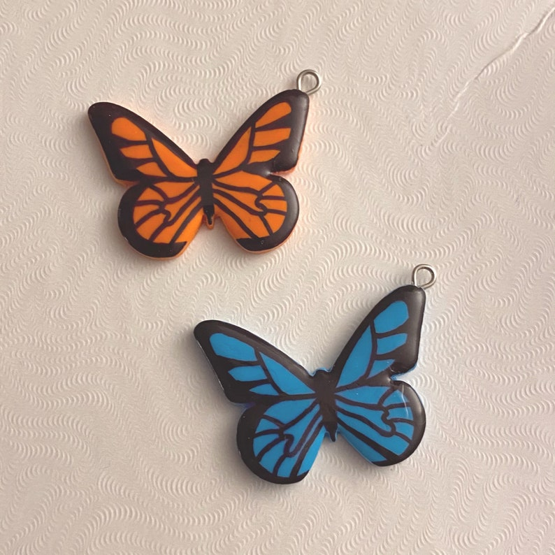 butterfly spring easter polymer clay earrings