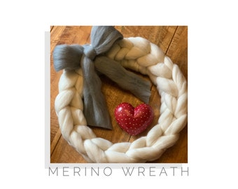 Large Chunky Merino Wreath