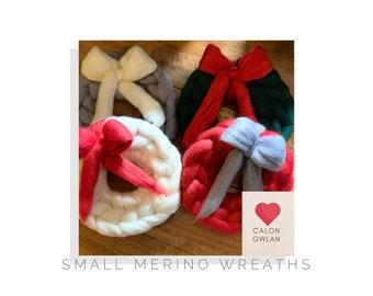 Small Chunky Merino Wreath