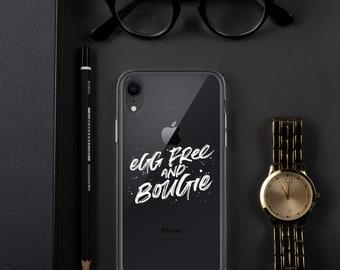 Egg Free & Bougie iPhone Case White Print