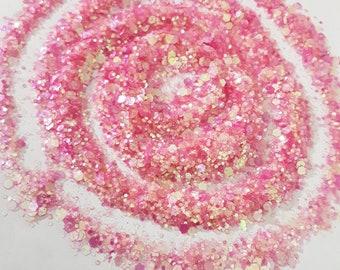 Pink holographic glitter unicorn statuefigurine