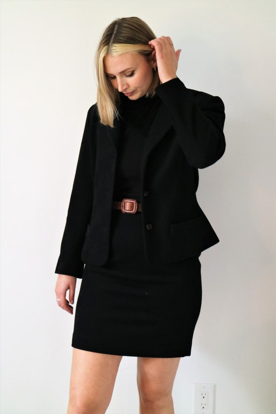 Vintage 1970s/80s Simon Chang Wool and Cashmere Tw