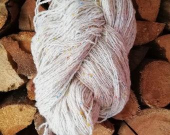 Tweed knitting yarn white merino tweed yarn handpun yarn knitting yarn New Zealand merino wool tweed yarn