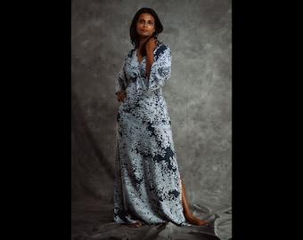 Batik dress with Kimono sleeves and tie-up back / summer dress / kimono dress / bohemian dress / boho dress