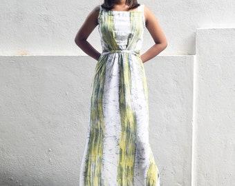 Batik Maxi Dress with Braided Detail