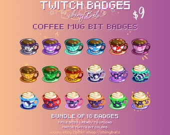 Lighting bolt Twitch bit badges thunderstorm stream art ready-to-use colourful storm bolts cheer badge set for Twitch in standard sizes