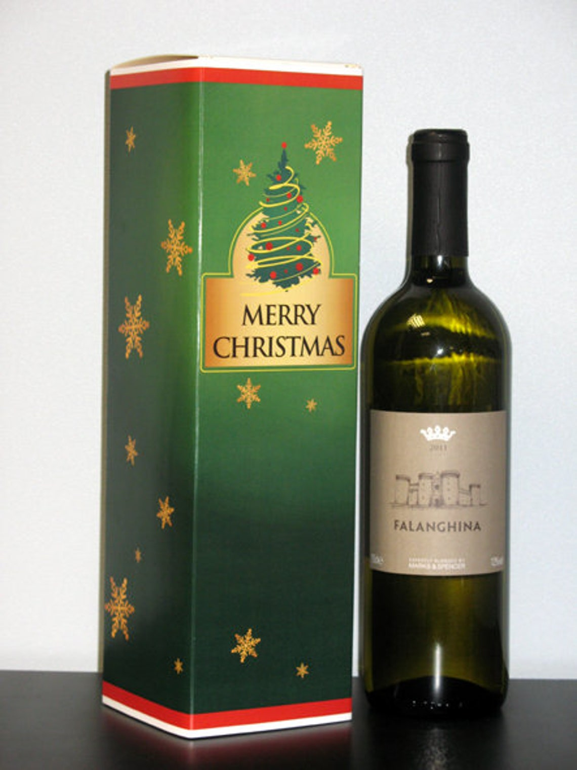 2x_Xmas Gift Bottle Boxes  Festive Christmas Designs image 0