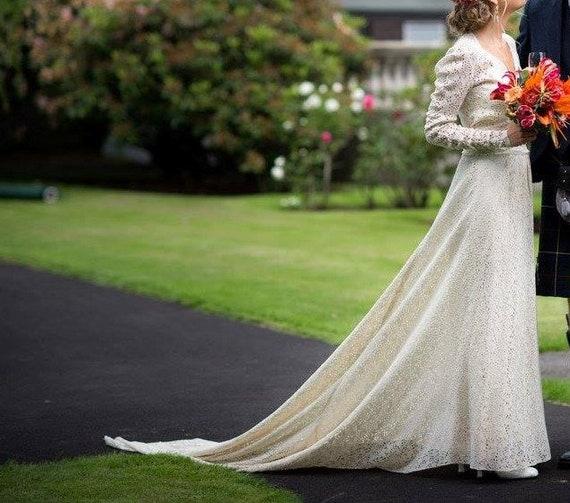 Genuine Edwardian vintage wedding dress, antique 1