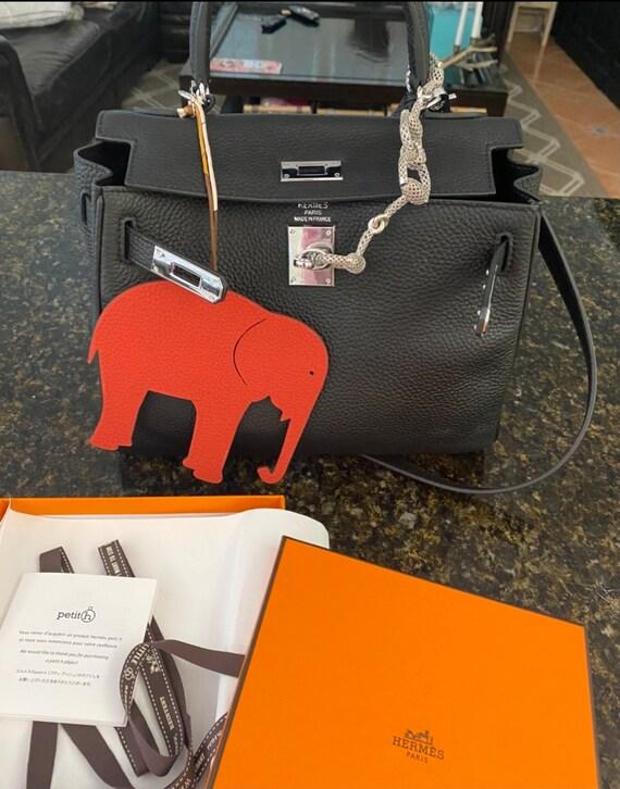 Hermès petit h Elephant Bag Charm | Reversible bag
