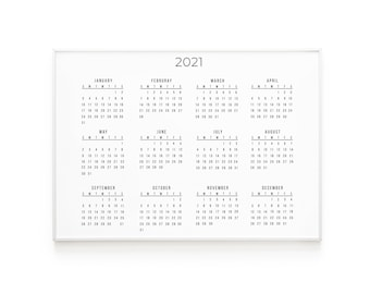 Pink 2021 A3 Poster Calendar 15/% OFF MULTI ORDERS!