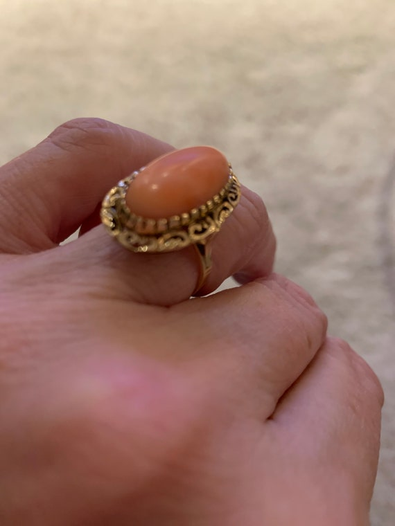 Victorian 18K Coral Ring