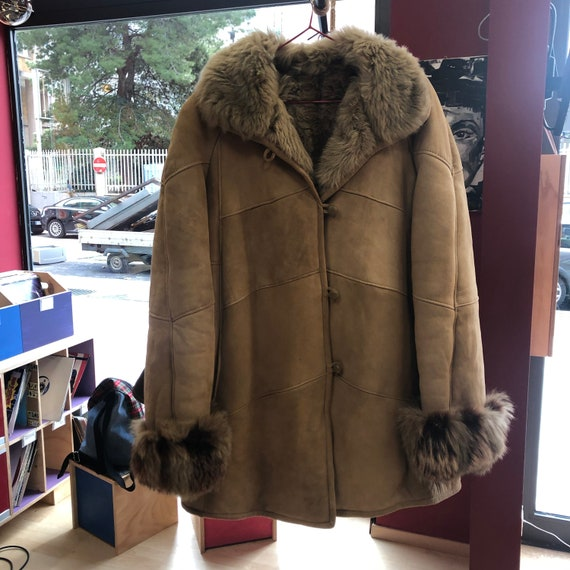 original vintage 80s mutton with real fur sleeves