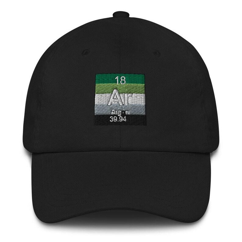 Aromantic Element Chemistry Pride BaseballDad hat