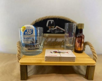 Mini Liquor Bar and Blonde Intelligence Shot Glass Set