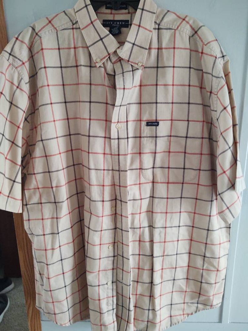 Mens Ivy Crew Classic XL short sleeve shirt button down preowned