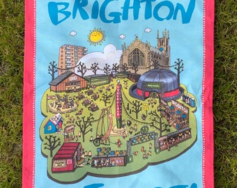 BTTWL001 Brighton Pavilion Cotton Tea Towel Seaside Gift
