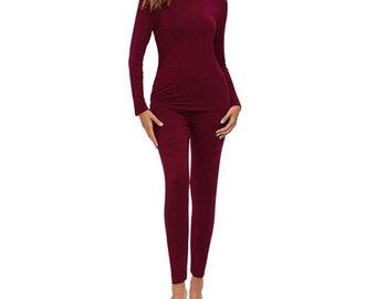 OCTAVE\u00ae LadiesWomens Thermal Underwear Long JaneLeggingsLong Johns