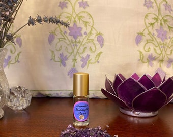 Lavender Perfume Oil infused with Amethyst