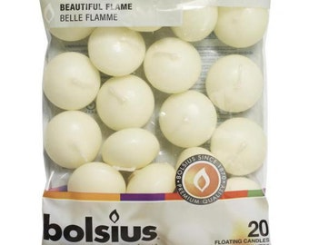Floating Candles by Bolsius - Pack of 20
