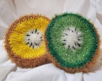 Korean-Style Dish Scrubbies Hand-Knit Dish Scrub Handmade