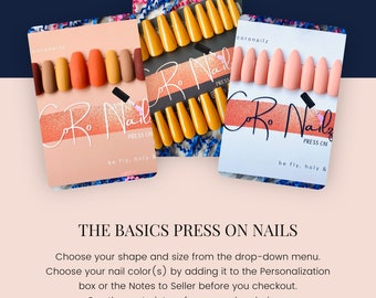 The Basics | Press on Nails | False Nails | Square Nails | Oval Nails | Stiletto Nails | Coffin Nails | Single Color Nails
