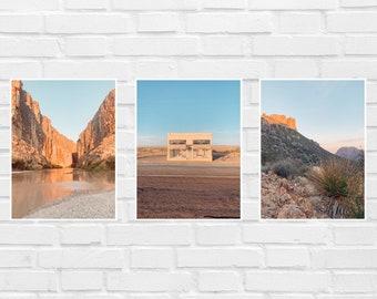 Set of 3 West Texas Digital Downloads Set of 3 Printables Prada Marfa Big Bend Photo Prints