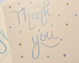 Handmade 'Thank you' cards