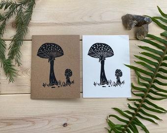 Amanita Mushroom Greeting Card