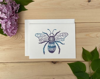 Ombre Bee Greeting Card