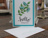 Set of 6 all occasion cards and envelopes. Free shipping.