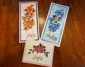 Set of 3, Inspirational Cards, Encouragement Card Set