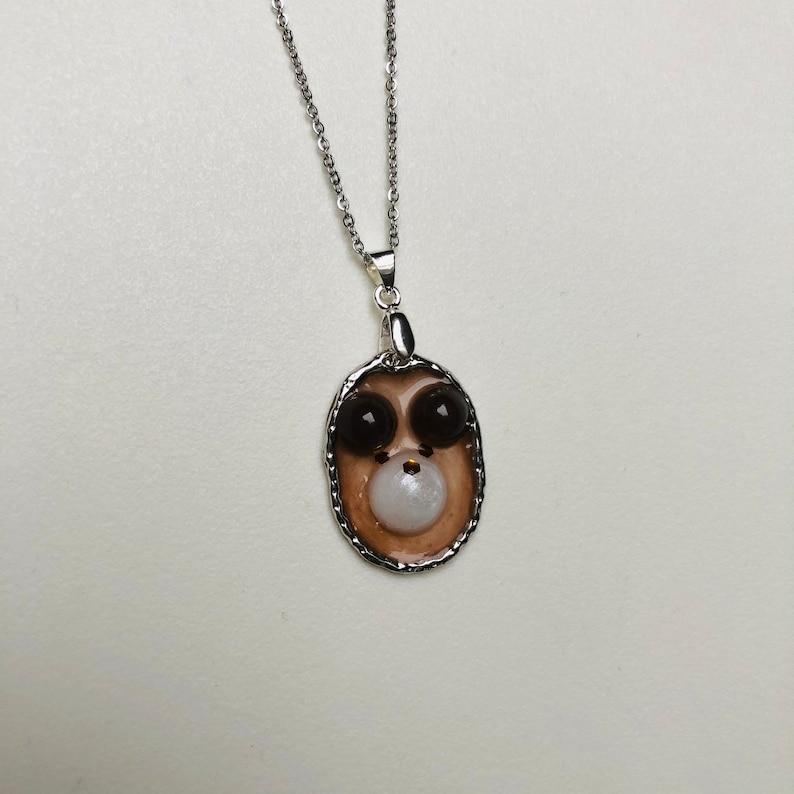 Little bear necklace ketting beertje resin handmade