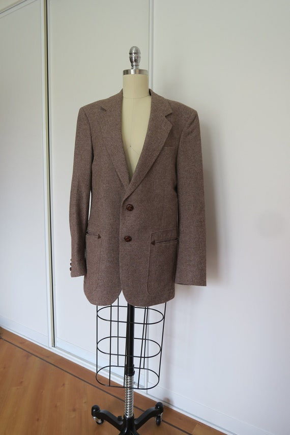 Vintage Wool Cinnamon Mushroom Brown Blazer