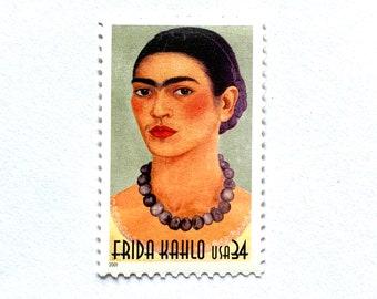 10 Unused Frida Kahlo Postage Stamps for Mailing