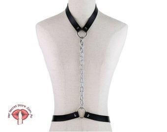 Chest body harness, Cage bra, Women vegan leather harness, Bdsm, Harness bra, Harness belt , Sexual Harness, Burlesque goth fashion