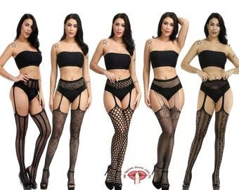 Thigh High Socks, Gothic Pantyhose, Women Stockings, Fishnet Socks, Fishnet Underwear, Crotchless lingerie