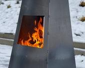 Chiminea - Large Metal Log Burner Fire Pit Outdoor