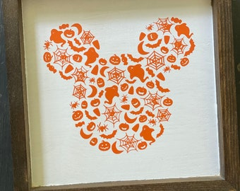 Halloween Mickey Sign