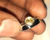 Citrine Ring, Handmade Ring, Gemstone Ring, Statement Ring, Boho Ring, 925 Silver Ring, Citrine Jewelry, Women Ring, Dainty Ring, Gift Ring