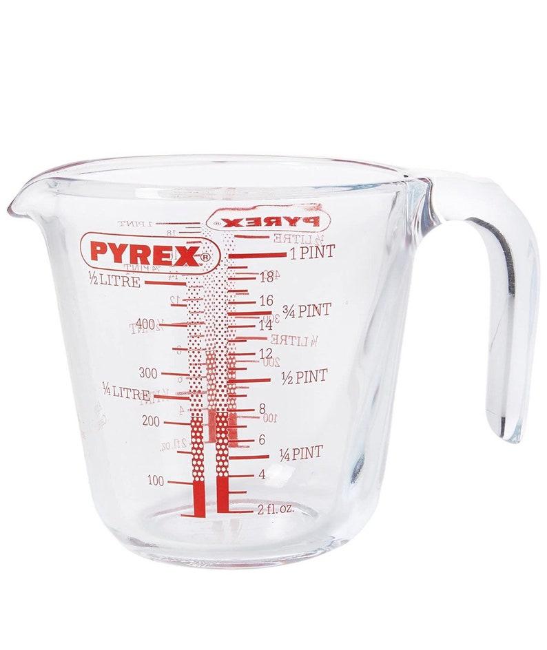 2 sizes available 263B000 . Pyrex Measure Jug
