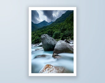 Running River high quality fine art photography print, landscape photography print by Jennifer Esseiva.