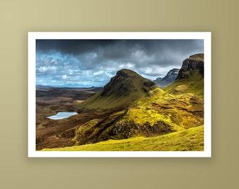 Skye Island high quality fine art print, Scotland landscape photography print, Dramatic landscape fine art print by Jennifer Esseiva.