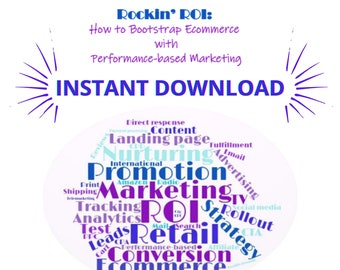 Performance-based Marketing Book and 7 Companion Templates for Business Plans & Marketing Productivity | Instant Download | Letter | A4 | A5